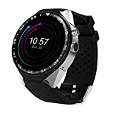 Intelligenza Smartwatch 3G Android 5.1 orologio bluetooth sportwatch impermeabile SUPPORTO GPS / Nano SIM Card / WIFI / fotocamera(nero e argento)