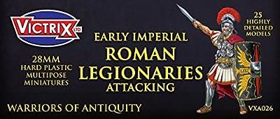 Victrix VXA026 - Early Imperial Roman Legionaries Attacking - 25 Figure Set - 28mm Plastic Miniatures - Warrior of Antiquity