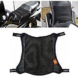 Gorgebuy Cuscino Sella Moto 3D Mesh - Coprisedile Traspirante per Motocicletta, Cuscino Sella Rete 3D Mesh, coprisella Anti-Scivolo per ciclomotore Coperchio di Protezione per Moto, Nero
