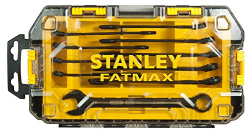Stanley FatMax Mini-ToughBox Ring-Maulschlüssel, 10-teiliges Set, FMHT0-74717