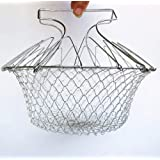 Amazing-Shop Chef Basket 12 In 1 Kitchen Tool For Cook, Deep Fry, Boiling Solid Steel Delux