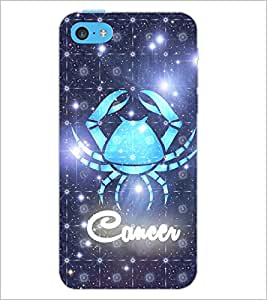 PrintDhaba Zodiac Cancer D-3243 Back Case Cover for APPLE IPHONE 5C (Multi-Coloured)