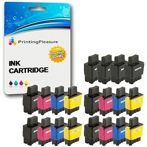 20 Cartucce d'inchiostro compatibili per Brother DCP-110C, 115C, 117C, 120C,