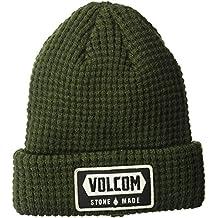 Volcom Shop Beanie Gorro, Hombre, Verde Oscuro, Talla Única