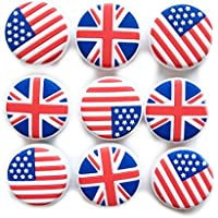 Amortiguadores de vibración de tenis de silicona con bandera nacional (# 1)