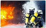 Feuerwehr Feuer löschen Wandtattoo Wandsticker Wandaufkleber R1125 Größe 70 cm x 110 cm