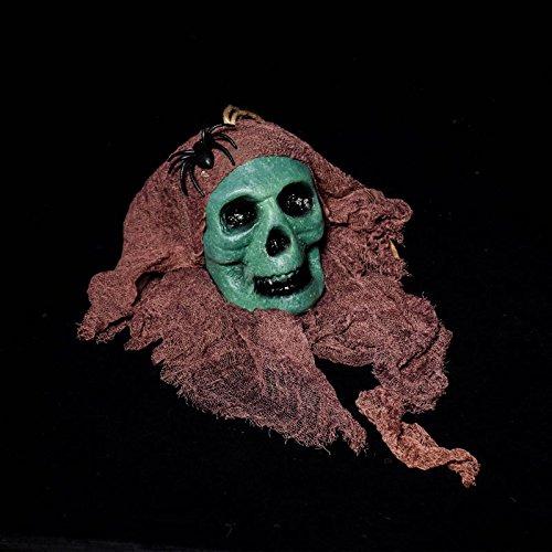 Bluelover Halloween Bar Haunted Gesicht Mask Props Bubble Simulation Blutig Gespenst Friedhof Terror Dress up - Grün