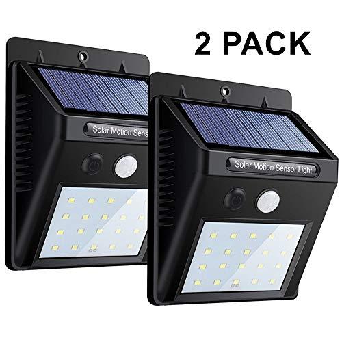 20 leds bewegungssensor wand licht, helles sicherheit nachtlicht, wasserdichte wireless solar - spot für outdoor -, hof, garten, garage, baum, patio, treppen, pool