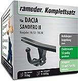 Rameder Komplettsatz, Anhängerkupplung starr + 13pol Elektrik für Dacia SANDERO II (121991-10963-1)