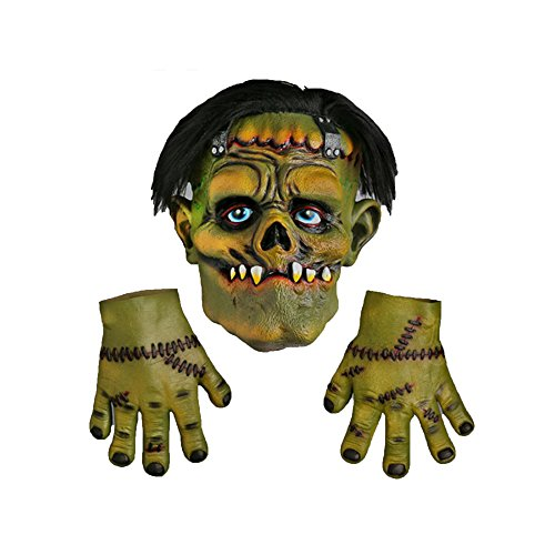 Scream Machine Frankenstein Latex Halloween Mask With Hands (One Size) (Green)  available at amazon for Rs.3131