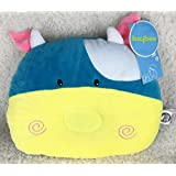 Baybee Premium Organic Pillow | Head Shaping Newborn Panda Pillow For Sleeping | Breathable Flat Head Baby Pillow To Prevent Flat Head Syndrome + Infants Pillow Assorted Colour