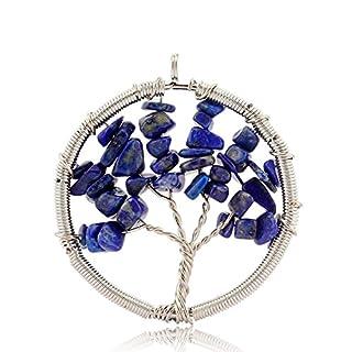 aituo Amulett Kristall Quarz Tree of Life Anhänger für Halskette DIY. 7 Chakra Edelstein Charms für Familie. Best Friends by boutiquelovin Stil 3