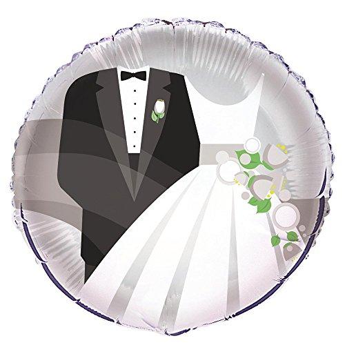 1 Stück 'Silver Wedding' Folien-Rundballon, ohne LOLLIPOP®-Gasfüllung (Verkauf Luftballons Rote Zum)