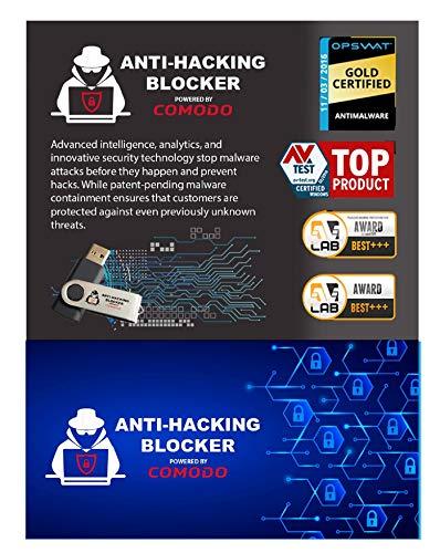 COMODO Anti-Hacking Blocker Software - Premium Internet Security Anti-Virus Software und Firewall-Schutz - schützt bis zu 3 PCs - 1 Jahr Prepaid-Abo