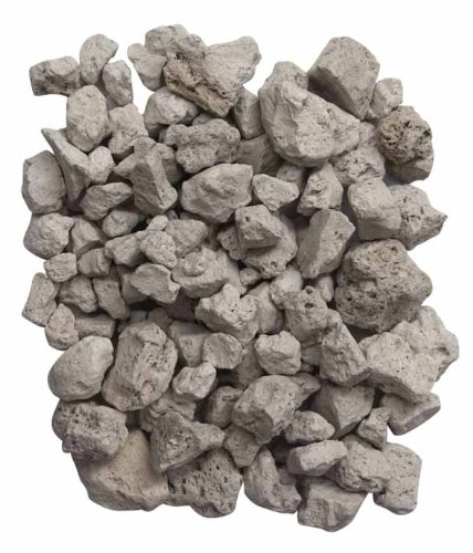 Gardeco PUMICE-4L - Bolsa de Piedras volcánicas (4L), Color Blanco