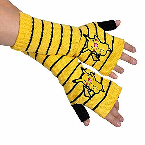 Pokémon - Pikachu Fingerless Gloves - Mit Game Boy M