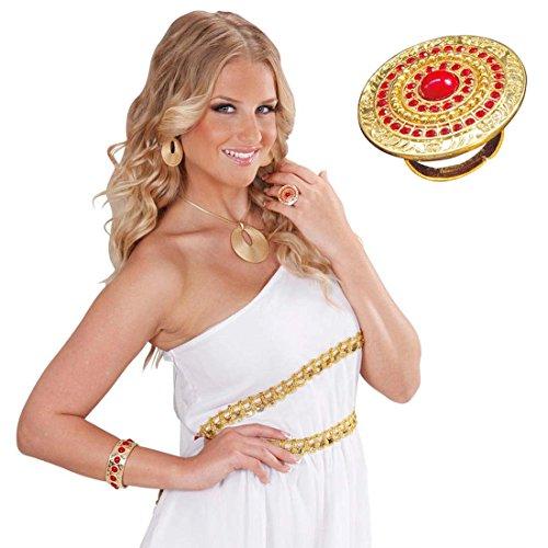Griechische Kostüm Schmuck (Römischer Ring Antike Fingerring gold Ägypten Goldring Göttin Fingerschmuck Griechischer Damenring Römerin)