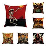 SEWORLD Halloween 6PC Home Car Bett Sofa Dekorative Brief Kissenbezug A