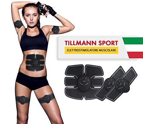 ELETTROSTIMOLATORE MUSCOLARE EMS per un corpo tonico e definito. Addominali, braccia e...