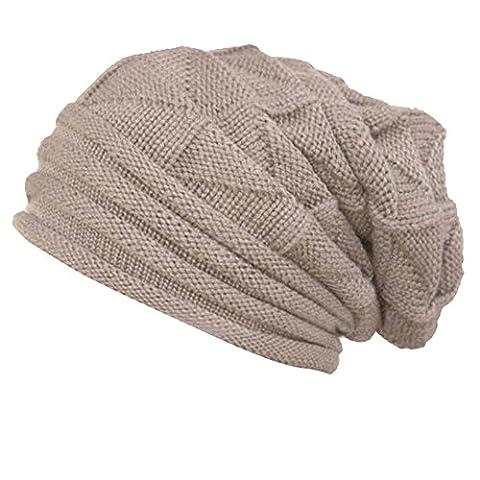 Frauen Winter Häkeln Hut, Zolimx Damen Wolle Strickmütze Warm Caps (Beige)