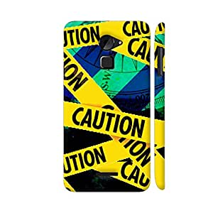 Colorpur Coolpad Note 3 Lite Cover - Caution Tape On Blue Printed Back Case