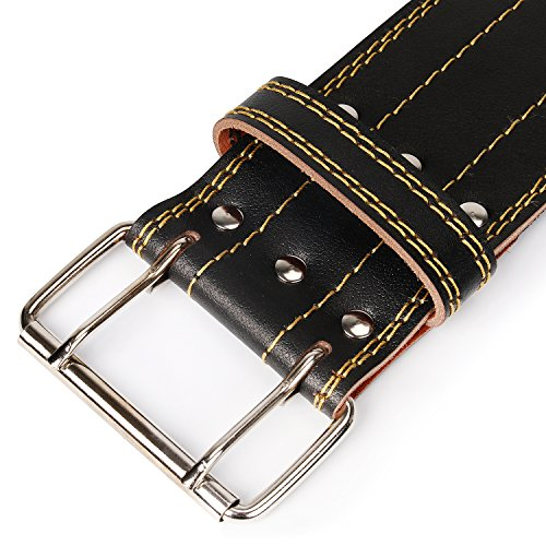 Zoom IMG-3 cintura powerlifting pesi vacchetta cuoio
