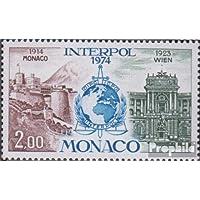 monaco 1123 (complète.Edition.) 1974 50 Années interpol (Timbres pour les collectionneurs)