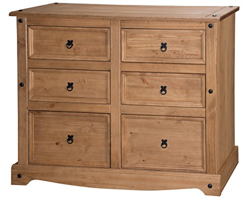 Corona 6 Drawer Wide Chest