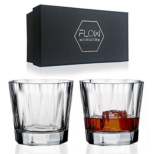 Harlequin Kristall Whisky Gläser, Hohe Qualität Schnitt Kristall-Glaswaren von Flow-Kristall Gläser perfekt für Scotch, Bourbon Gin & Tonic, Cocktails und mehr (Scotch Glencairn Glas)