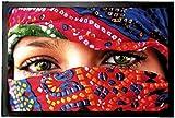 1art1 94604 Frauen - Arabische Augen Fußmatte Türmatte 60 x 40 cm