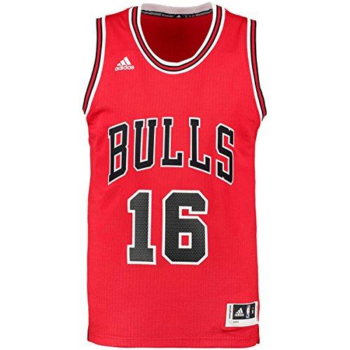 Shirt Gasol Pau (adidas Herren Trikot Int Swingman 16 Bulls, chicago bulls 1 (Rot/Schwarz), XL, A59526)