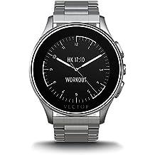 Vector Luna Smartwatch in Acciaio con Bracciale in Acciaio, Argento