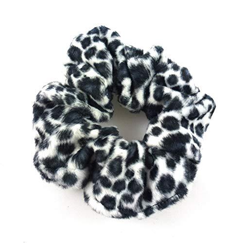 rougecaramel - Chouchou cheveux imprimé léopard noir