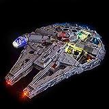 JXJ Accessori di Illuminazione per Blocchi da Costruzione - Set di Luci A LED per Le Guerre Stellari Ultimate Millennium Falcon Mode Blocchi - Compatibile con Lego 75192