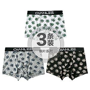 ZHFC-die drei männer unterwäsche – mode junge männliche baumwolle hosen shorts im sommer vier charakter flut winkel kopf luft bewegung