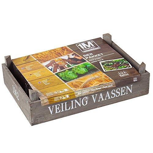 Geschenkartikel-shopping Set di piante Pacchetto di birra Luppolo di grano Set di semi di orzo Gätner Pflanzerde (grande)