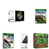 Xbox One S - Consola de 1 TB + Sea Of Thieves +  Minecraft Explorer + Mando Inalámbrico: Edición Limitada Minecraft Creeper + Soporte Vertical + Forza Horizon 3 (Xbox One)