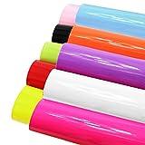 7PCS 20,3x 33cm (20cm x 34cm) Super glänzend Glitter Stereoscopic Pailletten Stoff starker Leinwand Rückseite Craft DIY Craft verschiedene Farben Smooth Leather