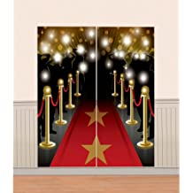 Amscan - Decoración para pared (1,65 x 82,5 cm), diseño de alfombra roja, 1,65 x 82,5 cm