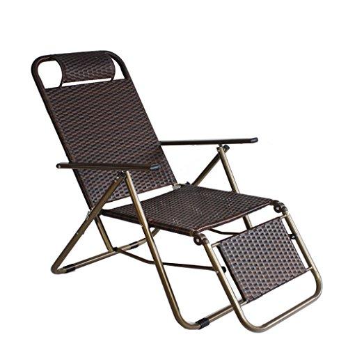 SHUSHI DLDL Sommer verstärktem Weidenstuhl-Klappstuhl-fauler Stuhl Tri Fold Square Pipe-Weidenstuhl - Perfekte Stuhl Square Stuhl