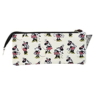 Disney Minnie Mouse Estuche Portatodo con 3 Cremalleras Escolar Làpices de colores Necesser