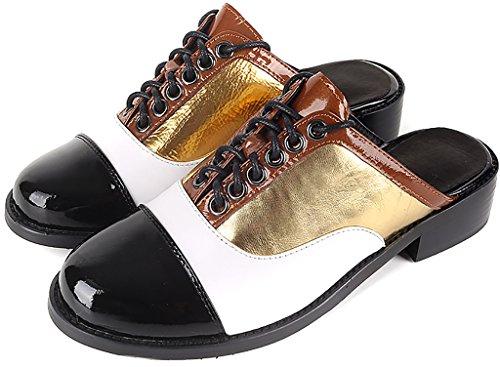 Calaier Femme Careporter 2.5CM Bloc Glisser Sur Mules et sabots Chaussures Or