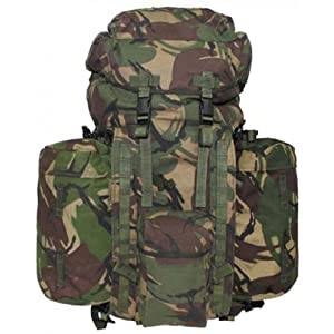 "510qQ3bW7gL. SS300  - Max Fuchs GB Backpack ""Plce Long"" Side Pockets DPM Camo Used"