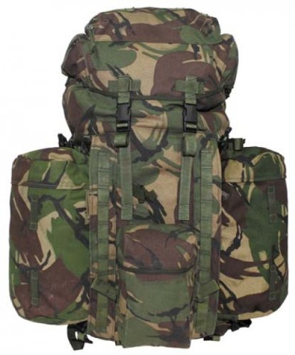 "510qQ3bW7gL - Max Fuchs GB Backpack ""Plce Long"" Side Pockets DPM Camo Used"