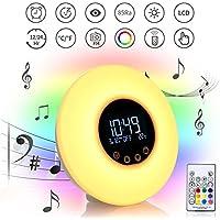 YU-UO LED-Sonnenaufgang Aufwachen Licht,Remote Wake-up Light,Schlaf Weckalarm,FM-Radio-Atmosphäre Lichter preisvergleich bei billige-tabletten.eu