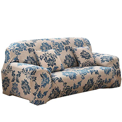 Gopg elasticizzato copridivano, morbido comoda stampa quilting copertura completa sdraio poltrona sofa cover adatto per 1 2 3 4 posti divano protector-n-2 posti 145-185centimetro