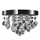 vidaXL Lustre Contemporain Cristal Chromé Classique Élégant Lampe Plafonnier