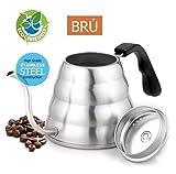 Verkauf. über Fauchen Kaffee Gießen Wasserkocher–PREMIUM QUALITÄT Schwanenhals Edelstahl drip Pot für Kaffee und Tee, 1.2l