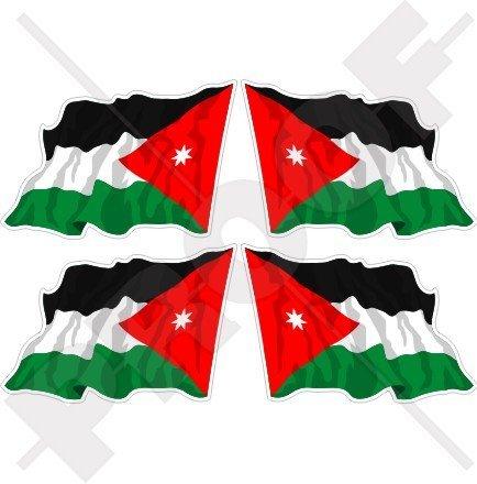 Jordan Jordan Waving Flag 5,1cm (50mm) Vinyl bumper-helmet Sticker, Aufkleber X4