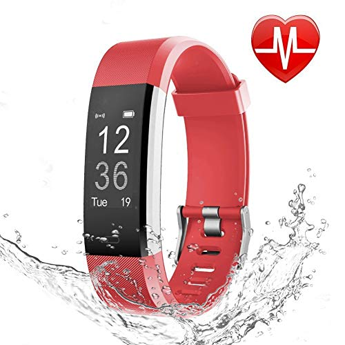 OMNiX Smart Wristband with Multiple Features (Medium Size, Red Colour)